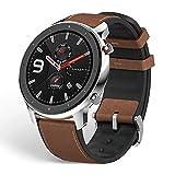 Delicado y elegante, con un diseño en negro clásico :Amazfit GTR 47 mm Smartwatch Deportivo tiene un diseño clásico con una corona doble y una esfera. El cuerpo del reloj inteligente está hecho de metales preciosos como el titanio, lo que hace que se...