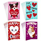 Hallmark Assorted Valentines Day Cards for Kids, Happy Heart Day (24...