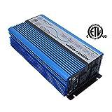 AIMS Power PWRI100012S Pure Sine Power Inverter, 12V, 1000 Watt Continuous, 2000 Watt Peak Power, USB Port, Dual AC Receptacles, Listed to UL 458, 2 Year Warranty