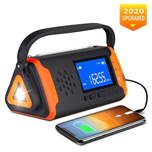 Emergency Weather Crank Radio 4000mAh - Portable, Solar Powered,...
