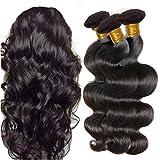 IFLY tissage cheveux humain ondulé Bresilien en Lot 7A Cheveux Naturel Brésilienne Tissage Onde Corporelle Cheveux Humain Ondulé Tissage Naturel (10 12 14pouce)