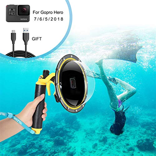 FEIMUOSI Porta GoPro Dome per GoPro Hero 7 6 5 2018, Custodia Impermeabile per GoPro Accessorio con Pistola a Scatto e Copertura Subacquea Custodia per Fotografia Subacquea
