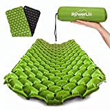 POWERLIX Sleeping Pad – Ultralight Inflatable Sleeping Mat, Ultimate for Camping, Backpacking, Hiking – Airpad, Inflating Bag, Carry Bag, Repair Kit – Compact & Lightweight Air Mattress