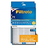 Filtrete True HEPA Premium Allergen, Bacteria, and Virus Room Air Purifier Filter F2, 13 in. x 8.2 in., 2-Pack, works with FAP-C02WA-G2, FAP-C03BA-G2, FAP-T03BA-G2 and FAP-SC02N devices