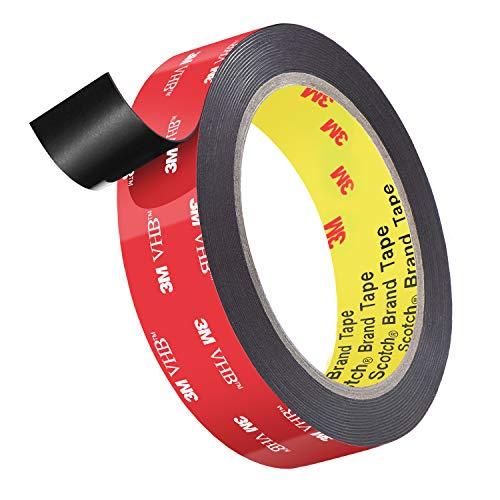 3M両面テープ、ローズベリーヘビーデューティー取り付け防水VHBフォームテープ、長さ4.8m、車の装飾、家の装飾、オフィスの装飾用の幅24mm