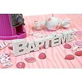 Déco de table 3D paillettes 'Baptême'