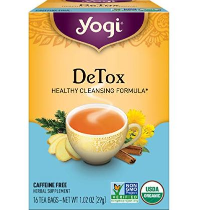 Yogi Tea - DeTox Tea (4 Pack) - Healthy Cleansing Formula With Traditional Ayurvedic Herbs - 64 Tea Bags