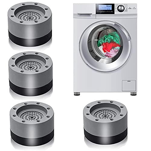Patins Anti Vibration,4 Pièces Patin Anti Vibration Machine à Laver Tampons À Pied Machine À Laver,pour Machines à laver, Sèche-linge, Réfrigérateurs (4PCS)