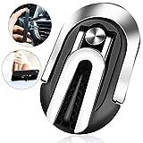 Fwn Finger Ring Stand, 3 en 1 Mr. Support de téléphone Universel pour Voiture et Support de Bague de Doigt pour Voiture, Rotation à 360 ° et retournement à 90 ° (Noir)