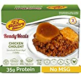 Kosher MRE Meat Meals Ready to Eat, Chicken Cholent & Kugel (1 Pack) - Prepared Entree Fully Cooked, Shelf Stable Microwave Dinner – Travel, Military, Camping, Emergency Survival Protein Food Supply