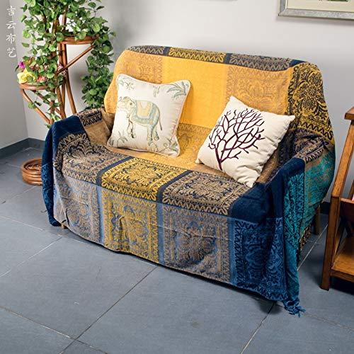 Asciugamano in stile divano mediterraneo set full-cover coperta ufficio coperta per il sorno fuori uscita caratteristiche coprire vestito asciugamano letto copertura arazzi 150 x 190cm divano singolo
