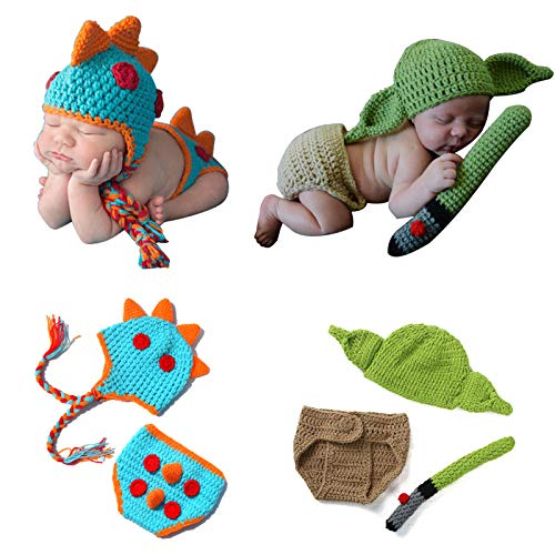 Newborn Photography Prop, 2 Sets Boy Girl Photo Outfits Baby...