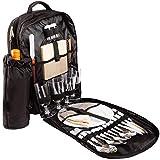 BRUBAKER Mochila de Picnic para 4 Personas Color Negro 30 × 39 X 21 Cm - con Compartimento Refrigerante Aislado Extraíble y Portabotellas