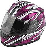 Raider Octane Women's Full-Face Motorcycle Helmet (Pink, Large)