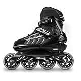 MammyGol Adjustable Inline Skates for Adults and Teen, Safe and Durable Roller Skates with Giant Wheels,High Performance Skates for Girls and Boys 9-11US