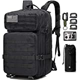 Monoki Military Tactical Backpack, 35L Army 3 Day Assault Pack, Molle Bag Rucksack