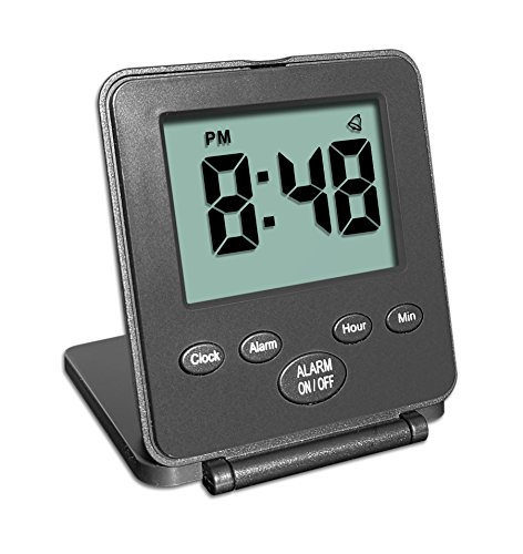 Mini reveil digital pour voyages – sans cloche ou sifflet horloge...