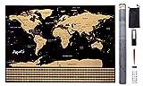 Carte du monde à gratter - Mappemonde murale (82 x 59 cm) – Scratch...