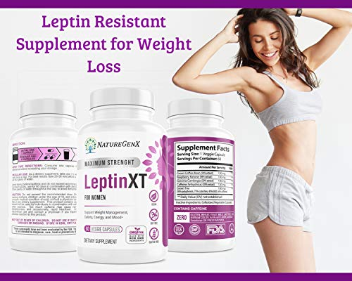 NatureGenX - Leptin XT (2-Pack) Leptin Rresistance Supplements for Weight Loss -Leptin Hormone Supplements - Vegan - 60 Pills -Leptin Burn for Women 4