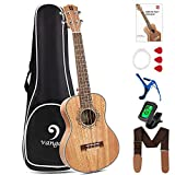 Vangoa Tenor Ukulele 26 Zoll Mahagoni Holz Akustik Ukulelen Hawaii-Gitarre mit Anfänger Kits für Einsteiger, Kinder, Erwachsene