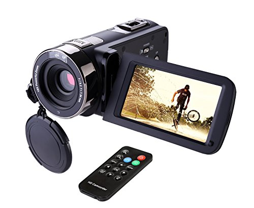Camcorder,Hausbell 302S Remote Control Camcorder, FHD Infrared Night Vision 1080p 24 MP Digital...