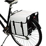 BikyBag Imperméable - Sacoche Double pour vélo (Blanc)