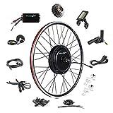 EBIKELING 48V 1500W 700C Direct Drive Waterproof Electric Bike Kit - Ebike Conversion Kit - Electric Bike Conversion Kit (Rear/LCD/Thumb)