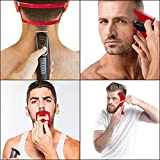 4 Pcs Beard Shaping and Haircut Tool Kit, Includes Beard Guide Shaping Template Tools, Hairline Template Stencil, Mustache Edge Shaving Template, Hairline Shaping Tool Beard Stencil