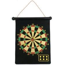 Trademark Games Magnetic Roll-up Dart Board and Bullseye Game w/ Darts Black/Yellow