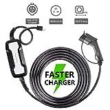 Morec EV Charger 16A 3.68KW NEMA6-20 Plug 8m (26 feet) Level 2 Portable EVSE, 220V Home Electric Vehicle Charging Station Compatible with All EV Cars, to J1772 Plug …
