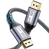 Câble Displayport 2m DP vers DP - Câble Yurnero (4K@60 Hz,2K@144Hz), Nylon...