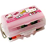 E.a@Market Cute Hellokitty Portable Travel Mini Medicine Box