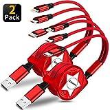 Amuvec Câble Multi USB, 2Paquet/ 3 en 1 Rétractable Multi Chargeur USB...