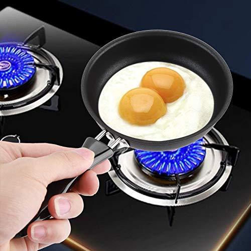 Mini Padella, 12 cm, Padella di Ferro Padella Pentole Antiaderente con Manici per Piccolo Tondo Un Uovo Prima Colazione Rivestito Uovo Omelette