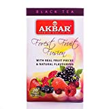 Akbar Flavoured Teas With Real Fruit Pieces - 20 Foil Tea Bags (Forest Fruit Fusion)