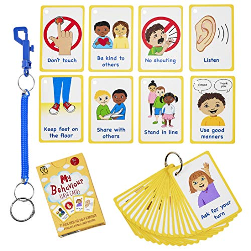 My Behaviour Cards 27 Flash Cards for Visual aid Special Ed,...