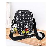 weichuang Mochila infantil de dibujos animados de Mickey Mouse bolsa de hombro para mujer, bolso de mensajero de señora moneda, bolsa de teléfono de pecho para niños (color: 1)