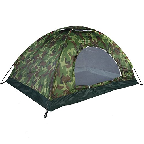 YFXOHAR ® Polyester 2 Persons Waterproof Picnic Camping Army Portable Tent