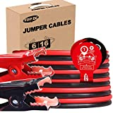 TOPDC Jumper Cables 6 Gauge 16 Feet Heavy Duty Booster Cables with Carry Bag (Or Box) (6AWG x 16Ft)