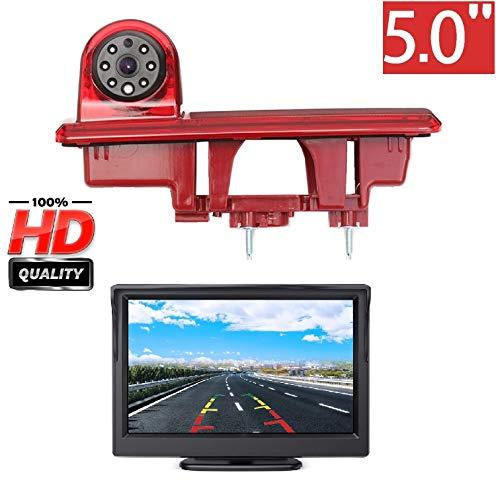 HD 720p Telecamera per la Retromarcia Retrocamera + Monitor 5.0 pollici per Fiat Talento Vauxhall Vivaro Renault Traffic III 3 X82 Mk3 2015-2020, Telecamera Posteriore Impermeabile Visione Notturna