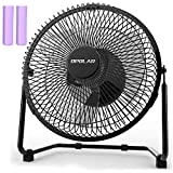 OPOLAR Battery Powered Rechargeable Desk Fan with 6700mAh, Battery Operated USB Fan with Long Working Time, Whisper Quiet, Personal Cooling Fan for Camping & Home & Office & Hurricane, 9 INCH