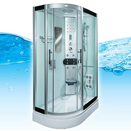 AcquaVapore DTP8060-7002L Dusche Dampfdusche Duschtempel Duschkabine 120x80, EasyClean Versiegelung:OHNE 2K Scheiben Versiegelung