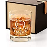 1969 51st Birthday Gifts for Men, Vintage Whiskey Glass 51 Birthday Gifts for Dad, Son, Husband, Brother, Funny 51st Birthday Gift Present Ideas for Him, 51 Year Old Bday Party Decoration