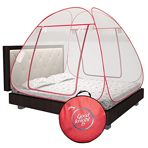 Good knight Mosquito Net for Double Bed, King-Size, Strong 30GSM net, High Durability, Foldable,...