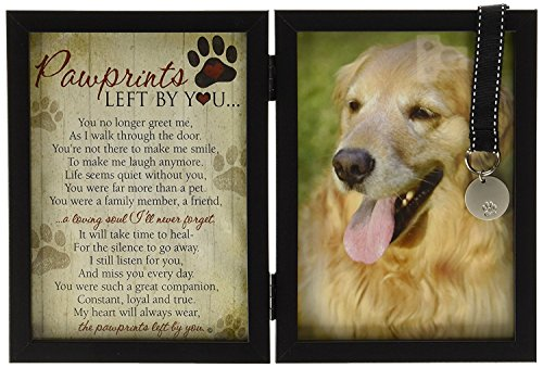 Pawprints Memorial Pet Tag Frame - Pawprints Left...