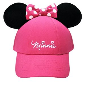 Disney Youth Hat Kids Cap with Mickey or Minnie Mouse Ears (Minnie Pink)