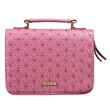 Christian Art Gifts Women's Fashion Bible Cover Grace Dusty Rose, Pink Faux Leather, Large