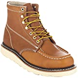 EVER BOOTS 'Weldor Men's Moc Toe Construction Work Boots Wedge Soft Toe (9 D(M), Brown)