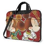 XCNGG Vintage Minckey y Minnie Laptop Bag Maletín de Negocios para Hombres y Mujeres, Bandolera de Hombro, Funda para Laptop, Bolsa de Transporte, 15.6 Pulgadas