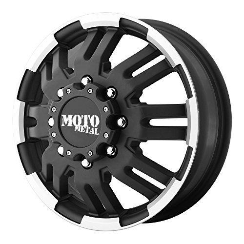 Moto Metal MO963 Matte Black Dually Outer Wheel With Machined Accents (16x6'/8x165.1mm, +111mm offset)